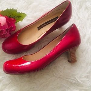 Chinese Laundry Red Patent Pumps. Size 6